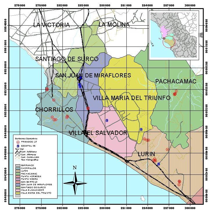 Lima sur metropolitana for Plano de villa el salvador